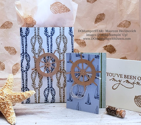 Stampin' Up! Sailing Home Bundle cards shared by Dawn Olchefske #dostamping  #stampinup #handmade #cardmaking #stamping #papercrafting #masculinecards #DOstamperSTARS (Maureen Hecimovich)