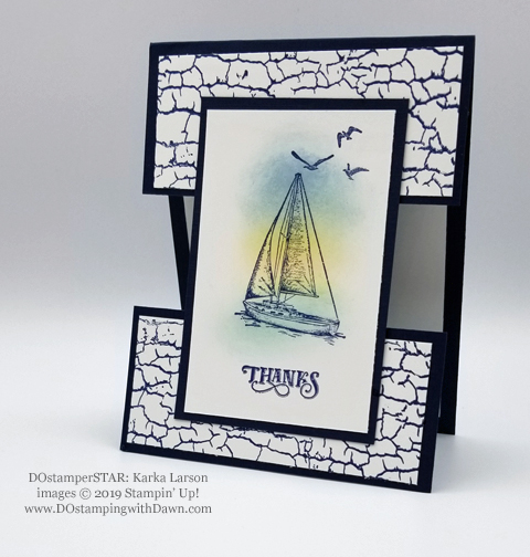 Stampin' Up! Sailing Home Bundle cards shared by Dawn Olchefske #dostamping  #stampinup #handmade #cardmaking #stamping #papercrafting #masculinecards #DOstamperSTARS (Karla Larson)