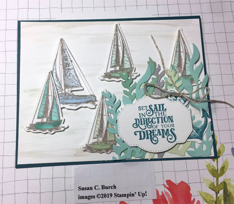 Stampin' Up! Sailing Home Bundle cards shared by Dawn Olchefske #dostamping  #stampinup #handmade #cardmaking #stamping #papercrafting #masculinecards #DOstamperSTARS (Susan Burch)