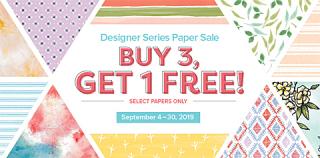 Stampin' Up! Designer Series Paper Sale!  Buy 3, Get 1 FREE!   #DOstamping #stampinup #DSP #papercrafting