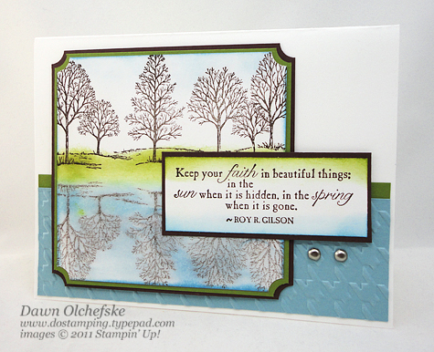 Saying Farewell to Stampin' Up!s Lovely as a Tree shared by Dawn Olchefske #dostamping #howdshedothat #stampinup #handmade #cardmaking #stamping #papercrafting