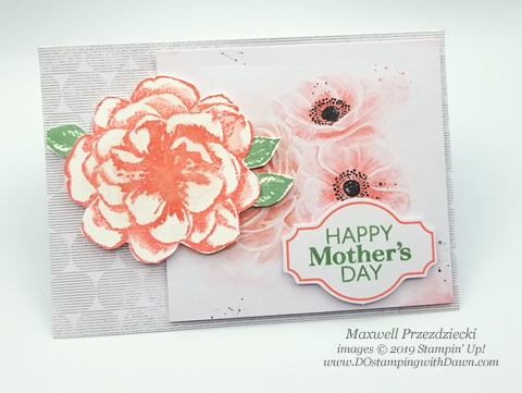 Sentimental Rose April 2019 Paper Pumpkin Kit alternate card shared by Dawn Olchefske #stampinup #paperpumpkin #cardmaking #cardkit #rubberstamping #diy #sentimentalrose