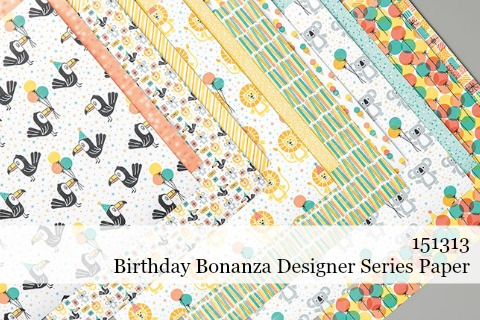 Stampin' Up! Birthday Bonanza Designer Series Paper (151313) #dostamping #stampinup #papercrafting #cardmaking #birthdaybonanza