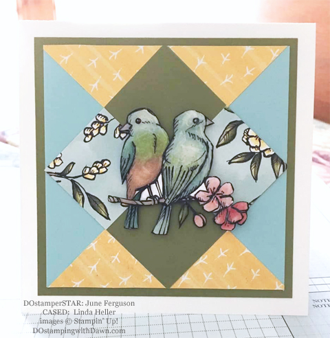 Stampin' Up! Designer Series Paper Sale featuring Bird Ballad Designer Series Paper shared by Dawn Olchefske #dostamping #stampinup #papercrafting (June Ferguson)