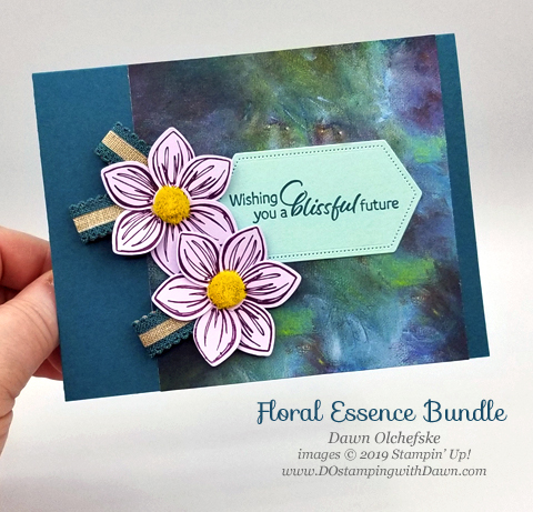 Stampin' Up! Perennial Flower Punch card shared by Dawn Olchefske #dostamping #howdshedothat #stampinup #handmade #cardmaking #stamping #papercrafting  #perennialessence