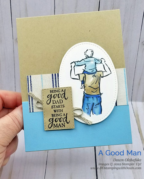 Celebrate Father's with the A Good Man stamp set from Stampin' Up! | card created by Dawn Olchefske #dostamping #howdshedothat #stampinup #handmade #cardmaking #papercrafting #masculinecards #agoodman