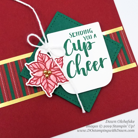 Stampin' Up! Cup of Christmas Bundle card  by Dawn Olchefske #dostamping #howdshedothat #stampinup #handmade #cardmaking #stamping #papercrafting  #christmascards