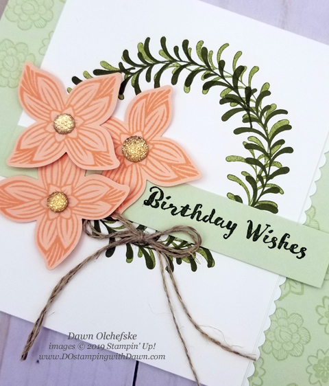 Stampin' Up!  Pop of Petals panel card shared by Dawn Olchefske #dostamping #howdshedothat #stampinup #handmade #cardmaking #stamping #papercrafting  #popofpetals #birthdaycards