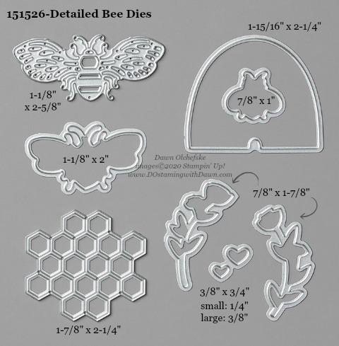 Stampin' Up! Detailed Bee Dies #DOstamping #stampinup #detailedbee #bigshot #cardmaking #HowdSheDOthat #papercrafting