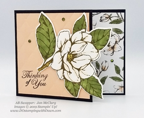 6 stunning Morning Magnolia samples - Magnolia Lane Suite from Stampin' Up! shared by Dawn Olchefske  #dostamping #stampinup #handmade #cardmaking #stamping #papercrafting  #morningmagnolia (Jan McClurg)
