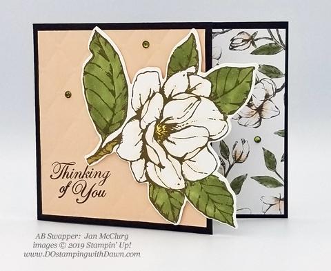 6 stunning Morning Magnolia samples - Magnolia Lane Suite from Stampin' Up! shared by Dawn Olchefske  #dostamping #stampinup #handmade #cardmaking #stamping #papercrafting#morningmagnolia (Jan McClurg)