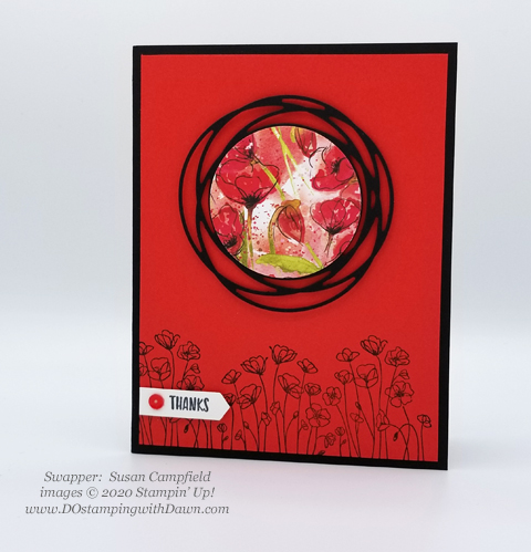 Stampin' Up! Peaceful Poppies swaps shared by Dawn Olchefske #dostamping #howdshedothat #stampinup #handmade #cardmaking #stamping #papercrafting #paintedpoppies (Susan Campfield)