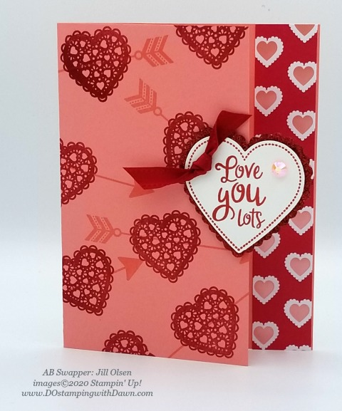 Stampin' Up! From My Heart swaps shared by Dawn Olchefske #dostamping #howdshedothat #stampinup #handmade #cardmaking #stamping #papercrafting #frommyheart (Jill Olsen)