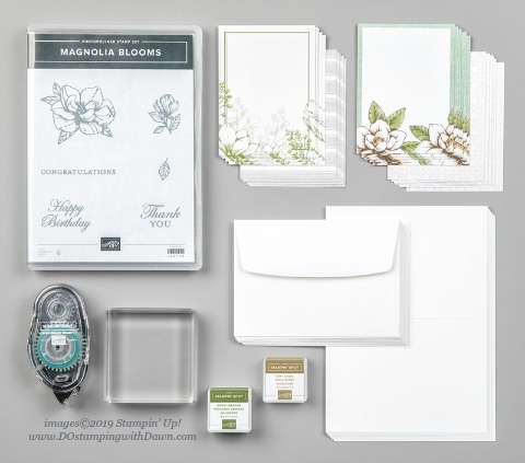 Beginner Brochure #dostamping #stampinup #handmade #cardmaking #stamping #papercrafting, Stampin' Up! Magnolia Lane Cards Bundle by Dawn Olchefske