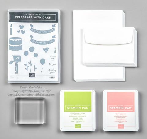 Beginner Brochure #dostamping #stampinup #handmade #cardmaking #stamping #papercrafting, Stampin' Up! Celebrate with Cake Cards Bundle by Dawn Olchefske