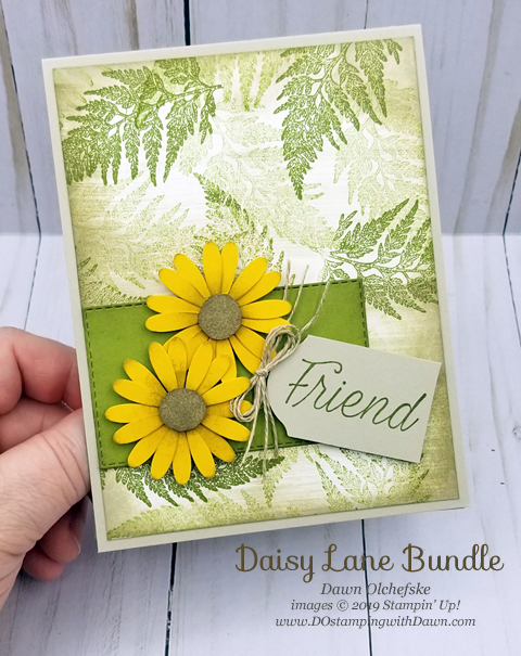 Vintage Style Daisy Lane Card & 3 Ways to Sponge