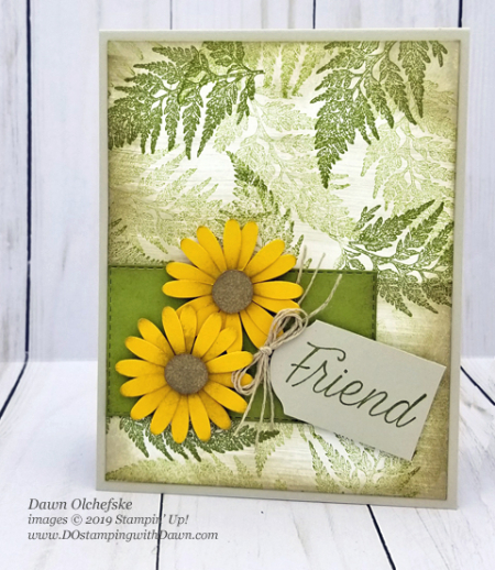 Vintage style Daisy Lane (from Stampin' Up!) card by Dawn Olchefske #dostamping #howdshedothat #stampinup #handmade #cardmaking #stamping #papercrafting #daisylane