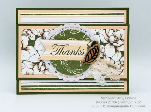 6 stunning Morning Magnolia samples - Magnolia Lane Suite from Stampin' Up! shared by Dawn Olchefske  #dostamping #stampinup #handmade #cardmaking #stamping #papercrafting#morningmagnolia (Amy Combs)