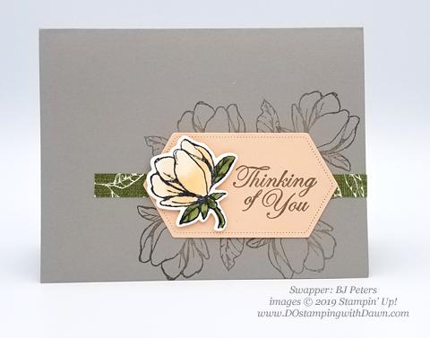 6 stunning Morning Magnolia samples - Magnolia Lane Suite from Stampin' Up! shared by Dawn Olchefske  #dostamping #stampinup #handmade #cardmaking #stamping #papercrafting#morningmagnolia (BJ Peters)