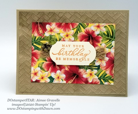 Stampin' Up! Tropical Oasis swap shared by Dawn Olchefske #dostamping #howdshedothat #stampinup #handmade #cardmaking #stamping #papercrafting (Aimee Gravelle)