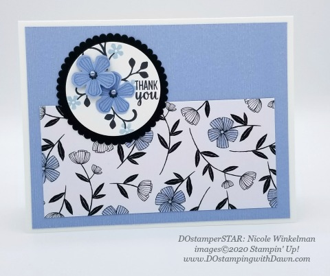 Stampin' Up! Thoughtful Blooms swap card shared by Dawn Olchefske #dostamping #howdshedothat #stampinup #handmade #cardmaking #stamping #papercrafting (Nicole Winkelman)