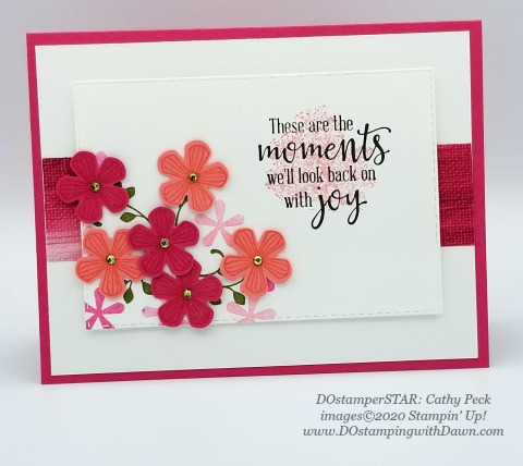 Stampin' Up! Thoughtful Blooms swap card shared by Dawn Olchefske #dostamping #howdshedothat #stampinup #handmade #cardmaking #stamping #papercrafting (Cathy Peck)
