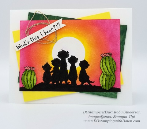 Stampin' Up! Gang's All Meer swap card shared by Dawn Olchefske #dostamping #howdshedothat #stampinup #handmade #cardmaking #stamping #papercrafting (Robin Anderson)