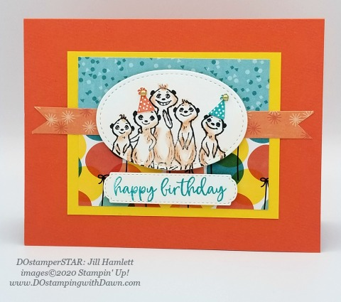 Stampin' Up! Gang's All Meer swap card shared by Dawn Olchefske #dostamping #howdshedothat #stampinup #handmade #cardmaking #stamping #papercrafting (Jill Hamlett)