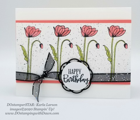 Stampin' Up! Painted Poppies Bundle swap shared by Dawn Olchefske #dostamping #howdshedothat #stampinup #handmade #cardmaking #stamping #papercrafting (Karla Larson)