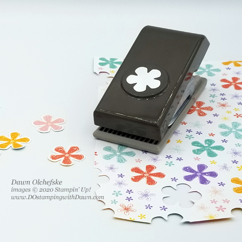 Sale-A-Bration Small Bloom Punch coordinates with Please as a Punch Designer Series Paper #dostamping #stampinup #coordinationproduct