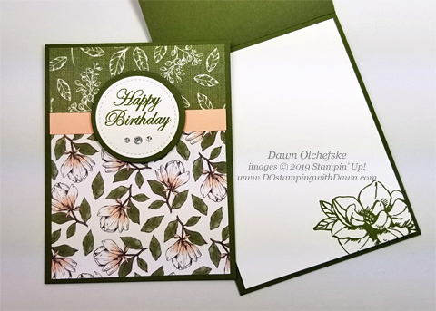 Beginner Brochure Stampin' Up! Magnolia Lane Cards Bundle by Dawn Olchefske #dostamping #stampinup #handmade #cardmaking #stamping #papercrafting #birthdaycards