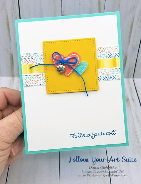 Stampin' Up! Follow Your Art card created by Dawn Olchefske #dostamping #howdshedothat #stampinup #handmade #cardmaking #stamping #papercrafting #followyourart