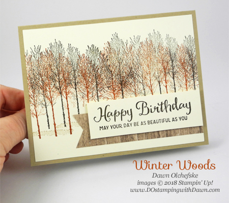 Stampin' Up! Winter Woods card created by Dawn Olchefske #dostamping #stampinup #cardmaking #stamping #handmade #papercrafting