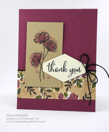 Stampin' Up! Love What You Do card created by Dawn Olchefske #dostamping #stampinup #cardmaking #stamping #handmade #papercrafting