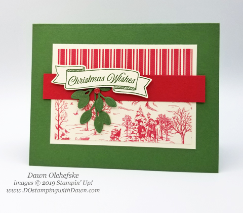 Stampin' Up! Toile Tidings Designer Series Paper is perfect for Christmas.  Card by Dawn Olchefske #dostamping #howdshedothat #stampinup #handmade #cardmaking #stamping #papercrafting #christmascards