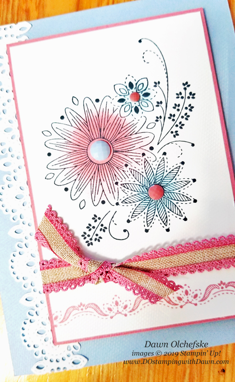 Stampin' Up! A Little Lace Bundle card by Dawn Olchefske for DOstamperSTARS Thursday Challenge #DSC319 #dostamping #stampinup #handmade #cardmaking #stamping #papercrafting