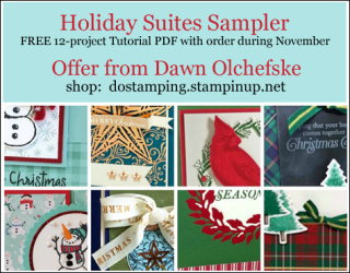 DOstamping November 2019 order BONUS - FREE Holiday Suites Sampler 12-Project Tutorial PDF, shop with Dawn Olchefske, https://bit.ly/shopwithdawn | #dostamping #monsterbash #cometogather #cardmaking