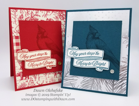 Sketch cards using Stampin' Up! Toile Christmas  from Dawn Olchefske for Stamping with the STARS Inspiration Hop #DOswts326 #dostamping #howdshedothat #stampinup #handmade #cardmaking #stamping #papercrafting  #dostamperstars#christmascards