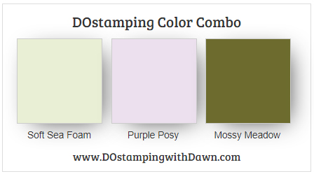 Stampin' Up! color combo Soft Sea Foam, Purple Posy, Mossy Meadow #dostamping #stampinup #colorcombo