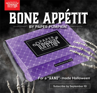 Paper Pumpkin September 2019 - Bone Appetit Sneak Peek, subscribe with Dawn Olchefske by September 10 at http://bit.ly/DOstampingPaperPumpkin #paperpumpkin #halloween #dostamping