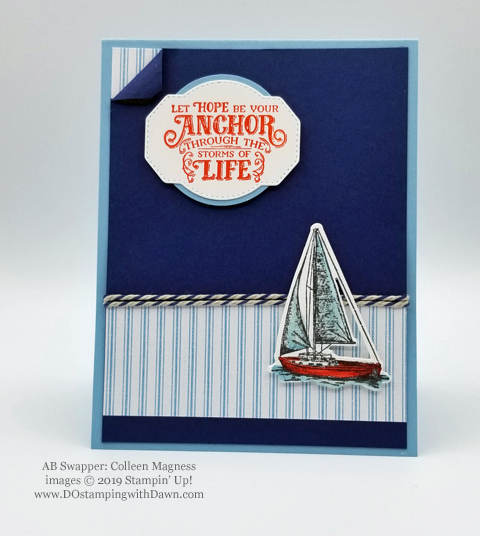 Stampin' Up! Sailing Home Bundle cards shared by Dawn Olchefske #dostamping  #stampinup #handmade #cardmaking #stamping #papercrafting #masculinecards (Colleen Magness)