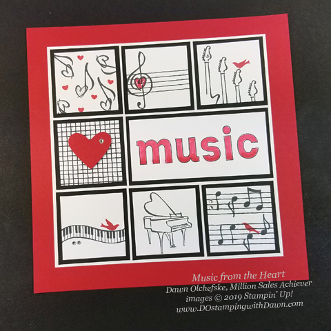 "17 ""Music from the Heart"" samples by Dawn Olchefske, Stampin' Up! Million Sales Achiever  - coming Jan 3, 2020 #dostamping #howdshedothat #stampinup #handmade #cardmaking #stamping #papercrafting #OnStage2019 #millionsalesachiever"