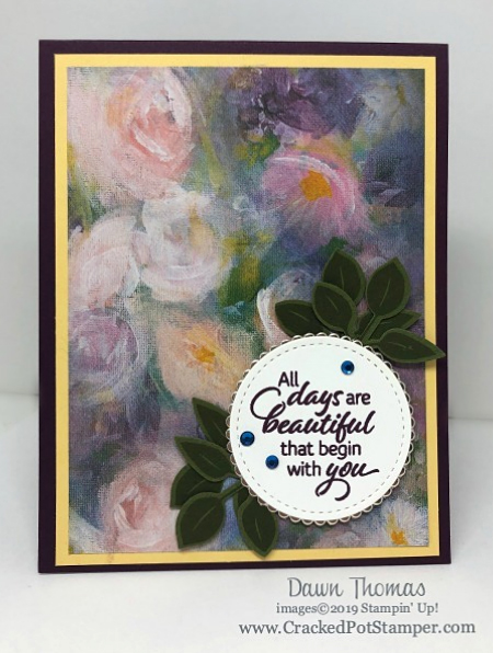 Stampin' Up! Designer Series Paper Sale featuring Perennial Essence Designer Series Paper shared by Dawn Olchefske #dostamping #stampinup #papercrafting (Dawn Thomas)