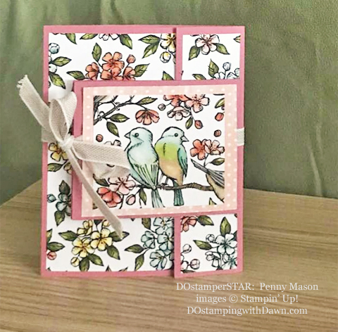 Stampin' Up! Designer Series Paper Sale featuring Bird Ballad Designer Series Paper shared by Dawn Olchefske #dostamping #stampinup #papercrafting (Penny Mason)