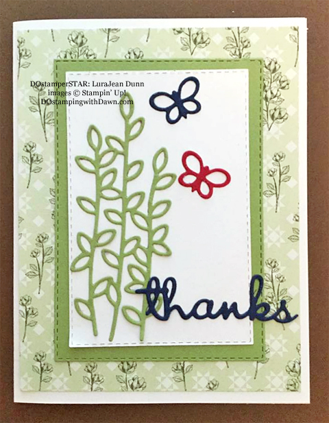 Stampin' Up! Designer Series Paper Sale featuring Garden Lane Designer Series Paper shared by Dawn Olchefske #dostamping #stampinup #papercrafting (LuraJean Dunn)