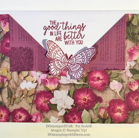 Stampin' Up! Designer Series Paper Sale featuring Pressed Petals Specialty Designer Series Paper shared by Dawn Olchefske #dostamping #stampinup #papercrafting (Pat Sodeifi)