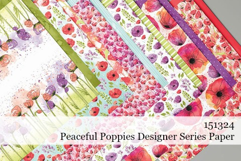 Stampin' Up! Peaceful Poppies Designer Series Paper (151324) #dostamping #stampinup #papercrafting #cardmaking #peacefulpoppies