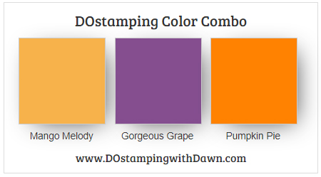 Stampin' Up! Color Combo Mango Melody, Gorgeous Grape, Pumpkin Pie from Dawn Olchefske #dostamping #stampinup #colorcombo #halloween