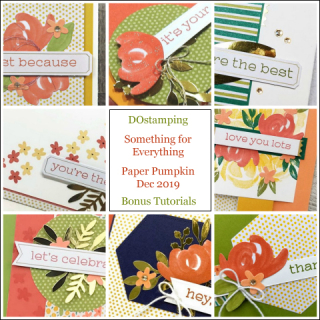 Something for Everyone, December 2019 Paper Pumpkin with DOstamping to receive a free alternate ideas tutorial PDF bonus each month.  Subscribe with Dawn Olchefske here:  http://bit.ly/DOstampingPaperPumpkin  #paperpumpkin #dostamping #stampinup #alternativeideas