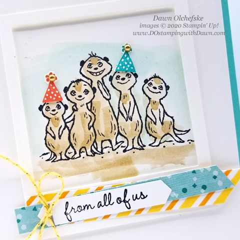Sale-a-Bration 2020: The Gang's All Meer quick wash card by Dawn Olchefske #dostamping #stampinup #SAB2020 #howdshedothat #handmade #cardmaking #stamping #papercrafting